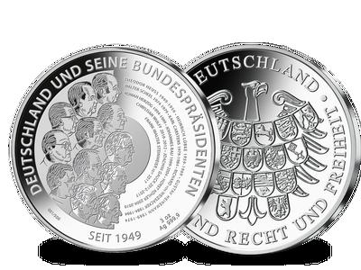 Die 3-Unzen-Feinsilber-Prägungen zu Ehren der deutschen Bundeskanzler und Bundespräsidenten