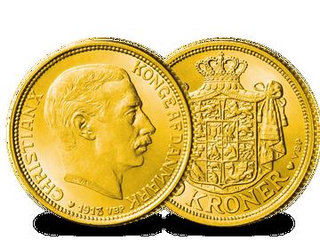 Dänemarks 10 Kronen Goldmünze von Christian X.!