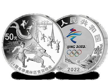 China – die gigantische Hochrelief-Silbermünze zu Peking 2022!