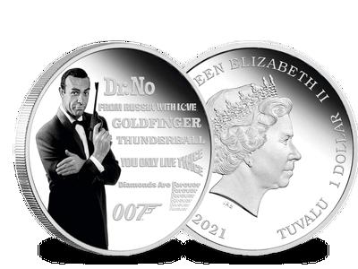 Die Silbermünze James Bond – Sean Connery
