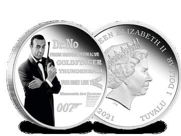 Silbermünze James Bond Legende – Sean Connery