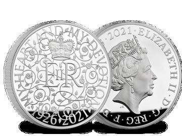 Großbritannien 2021: 1 Kilo Silbermünze zum 95. Geburtstag der Queen