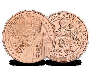 Vatikan 2021: 20 Euro-Kupfermünze