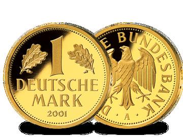 Die einzige deutsche Goldmark 2001 – Prägezeichen unserer Wahl!