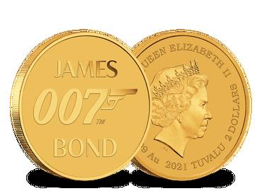 Gedenkmünze James Bond 007 aus reinstem Feingold
