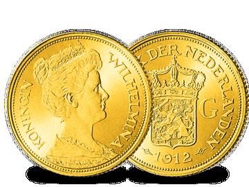 Die einzige 5-Gulden-Goldmünze von Wilhelmina!