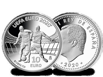 Aus Spanien: Die erste Silbermünze zur UEFA Fußball-Europameisterschaft 2020!