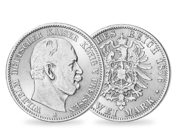 Preußen 2 Mark Wilhelm I. 1876-1884