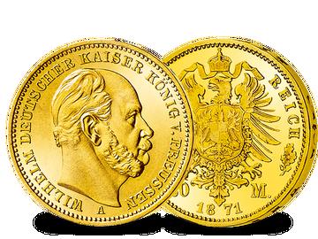 Die erste Goldmünze des Deutschen Kaiserreiches!