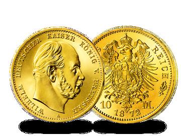 Deutsches Reich/ Preußen 10 Mark 1872/73 Wilhelm I.