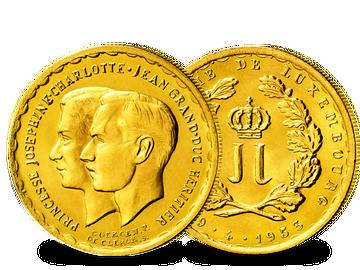 Luxemburg 20 Francs 1953 Hochzeit Jean