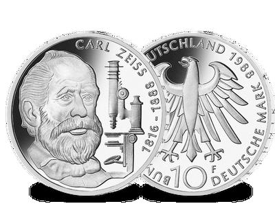 Die offizielle 10-DM-Silber-Gedenkmünze -