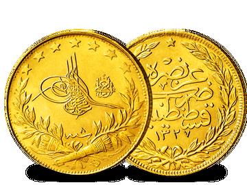 Türkei 100 Piaster 1909-1918 Mohammed V.