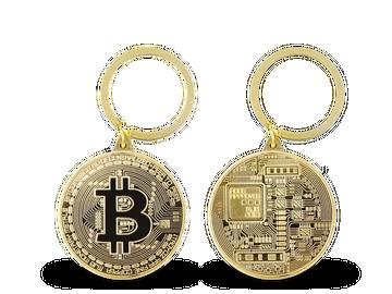 Praktischer Schlüsselanhänger in witziger Bitcoin Optik