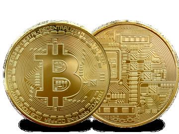 Sammler-Medaille in witziger Bitcoin Optik