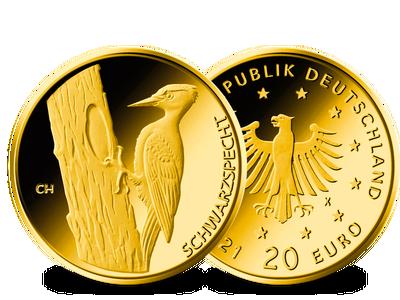 Die deutsche 20-Euro-Goldmünze 2021