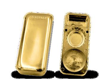 Dreifacher Flaschenöffner in Goldbarrenform