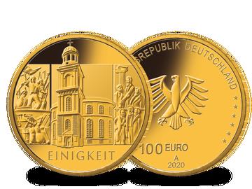 Die offizielle deutsche 100-Euro-Goldmünze 2020