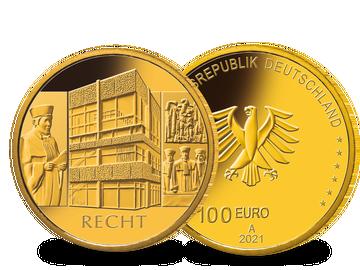 Die offizielle deutsche 100-Euro-Goldmünze 2021