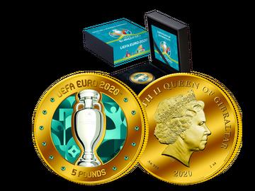 Aus Gibraltar: Die größte und schwerste Goldmünze zur ersten europaweiten Fußball-EM!