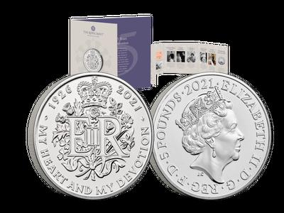 Großbritannien 2021: 5 Pfund Gedenkmünze zum 95. Geburtstag der Queen