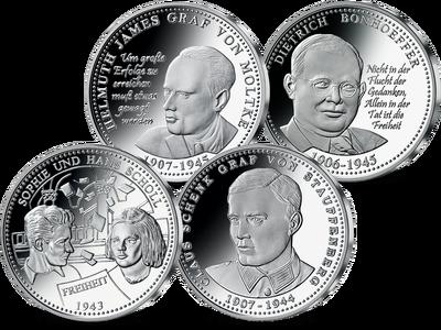 Das Komplett-Set bestehend aus Silber-Gedenkprägungen