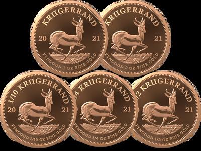 Südafrika 2021: Krügerrand-Goldmünzen