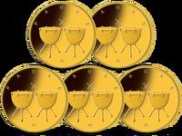 Bundesrepublik, Pauke, 5x50 Euro, 2021 ADFGJ, st
