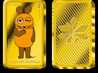 """Der Gold-Ergänzungsbarren zur 20-Euro-Farbmünze """"Die Maus"""" 2021"""