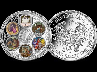 Die 3-Unzen-Silber-Prägung zu Ehren der deutschen Märchen in limitierter Auflage