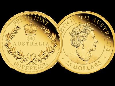 Australien 2021: Gold-Sovereign zu Ehren des 95. Geburtstags der Queen!