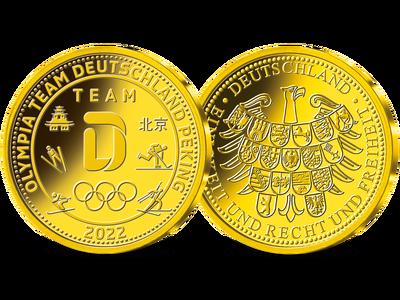 Offizielle Goldprägung