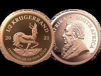 Südafrika 2021: Krügerrand-Goldmünze, 1/2 Unze, PP
