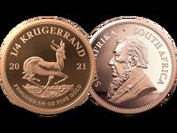 Südafrika 2021: Krügerrand-Goldmünze, 1/4 Unze, PP
