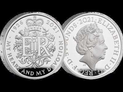 Großbritannien 2021: 5 Pfund Silbermünze zum 95. Geburtstag der Queen