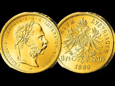 Die einzige ihrer Art: Die österreichische 8-Gulden-Münze von Kaiser Franz Joseph I.
