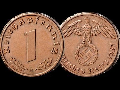 1-Reichspfennig-Münze des Dritten Reichs