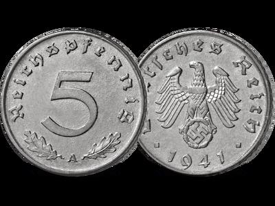 5-Reichspfennig-Münze des Dritten Reichs