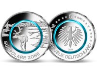 Bundesrepublik, Subpolare Zone, 5 Euro, 2020 A, st