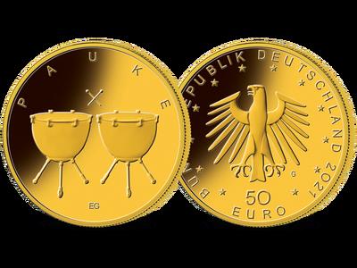 Die offizielle deutsche 50-Euro-Goldmünze 2021