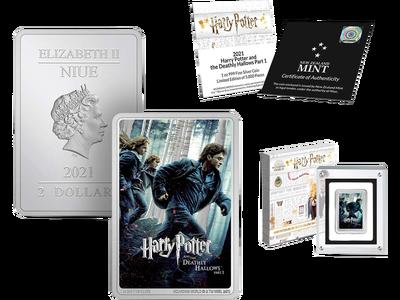 Die offizielle 1-Unzen-Feinsilber-Barrenmünze zu Ehren des siebten Films der HARRY POTTER™-Filmreihe