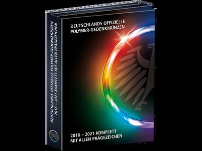 Sammelmappe für die 45 deutschen Polymer-Münzen 2016-2021