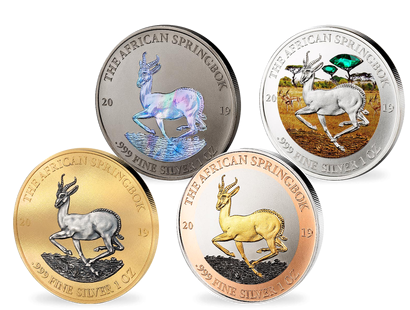 "Silver Investment Coin Prestige-Set ""Springbock"" 2019"