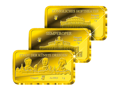 "Exklusiver Goldbarren-Satz ""Semperoper"""