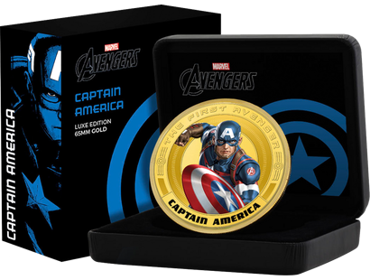 "Captain America – in der ""65 mm Gold-Luxus-Edition"""