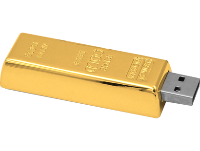 Der absolute Knaller: Der USB-Stick in Goldbarren-Optik 8GB