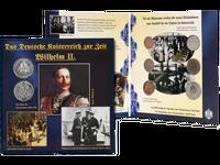 Sechs Original-Münzen aus der Zeit Wilhelms II. (1888-1918)!
