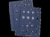 VISTA-Münzblatt für 2-Euro-Münzen - Inhalt pro Packung: 2 Blätter für je 20 Münzen