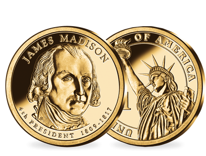 4. US-Präsidenten Dollar 'James Madison'