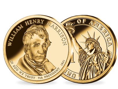 9. US-Präsidenten Dollar 'William Henry Harrison'
